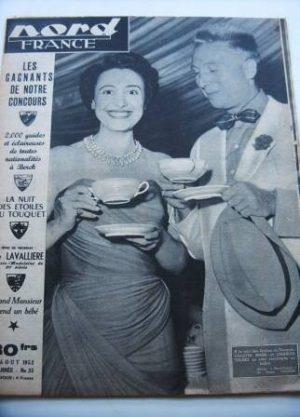 Rare Vintage Magazine 1952 Charles Trenet Colette Mars