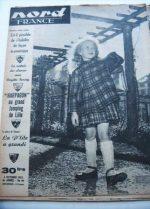 Rare Vintage Magazine 1952 Brigitte Fossey