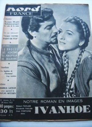 Rare Vintage Magazine 1953 Robert Taylor Joan Fontaine