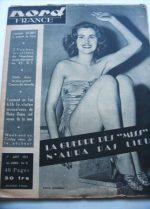 Rare Vintage Mag 1953 Christiane Martel Miss Universe