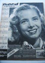 Rare Vintage Magazine 1953 Genevieve Kervine
