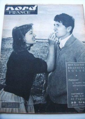 Rare Vintage Magazine 1953 Mouloudji
