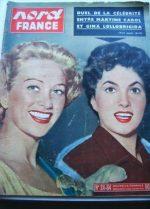 Rare Vintage Mag 1954 Gina Lollobrigida Martine Carol