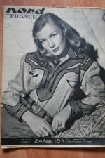 Rare Vintage Magazine 1948 Veronica Lake On Cover
