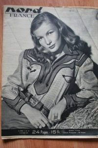 Rare Vintage Magazine 1948 Veronica Lake On Cover