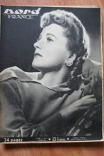 Rare Vintage Magazine 1948 Joan Fontaine On Cover