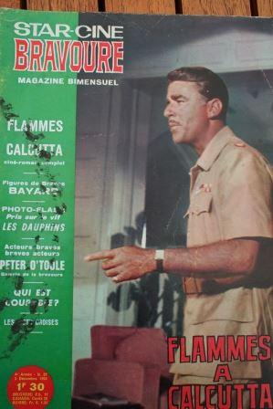 1964 Magazine Flame of Calcutta Denise Darcel Patric Knowles Paul Cavanagh