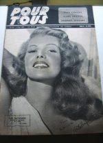 1947 Vintage Magazine Rita Hayworth Cyd Charisse