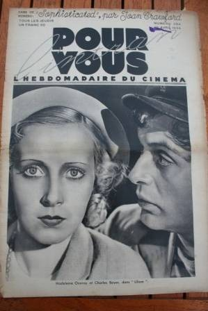 34 Charles Boyer Joan Crawford Jean Harlow Gaby Morlay