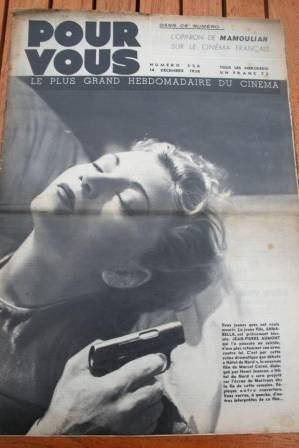 1938 Annabella Sacha Guitry Mamoulian Yvonne Printemps