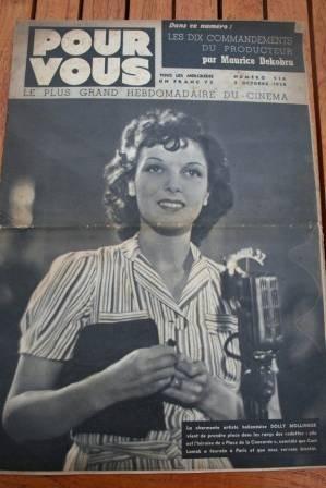 1938 Dolly Mollinger Rudolph Valentino Tyrone Power