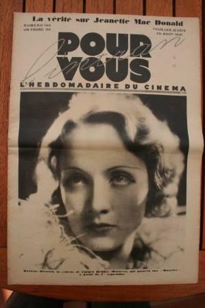 1931 Vintage Magazine Marlene Dietrich - Rare !