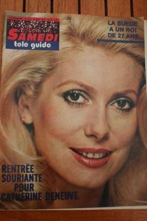 1973 Vintage Magazine Catherine Deneuve