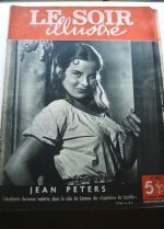 1949 Mag Jean Peters On Cover