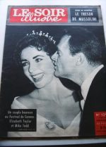 1957 Mag Liz Taylor Mike Todd On Cover