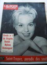 1958 Mag Mylene Demongeot On Cover