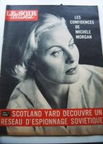 1961 Mag Michele Morgan On Cover