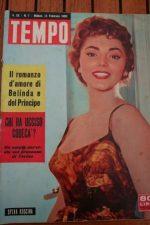 1958 Vintage Magazine Sylva Koscina Silvana Mangano