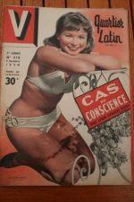 Vintage Magazine 1950 Francoise Arnoul