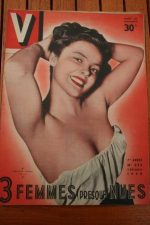 Vintage Magazine 1950 Christine Carere