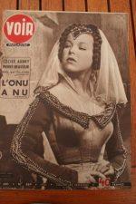 Vintage Magazine 1951 Cecile Aubry