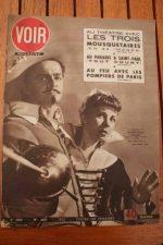 Vintage Magazine 1952 Serge Reggiani Annie Noel