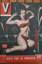 1949 Vintage V Magazine Pin-Up Jean David Rita Alvarez