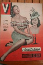 1950 Vintage V Magazine Pin-Up J David Mireille Carral