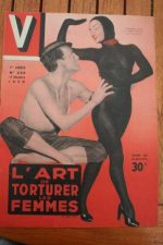 1950 Vintage V Magazine Pin-Up J David Catherine Fath