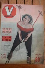 1951 Vintage V Magazine Pin-Up J David Huguette Lacoste