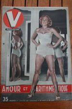 1951 Vintage V Magazine Pin-Up J David Genevieve Guitry