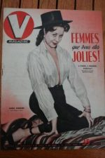 1951 Vintage V Magazine Pin-Up J David Maria Riquelme