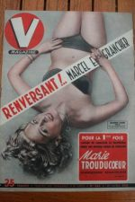 1951 Vintage V Magazine Pin-Up Jean David Janine Caire