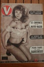 1951 Vintage V Magazine Pin-Up J David Monique Watteau