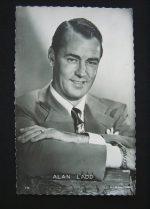 Vintage Postcard Alan Ladd