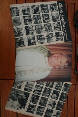 Vintage Clippings Charles Laughton Lot Of Pics !