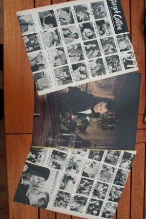 Vintage Clippings Joseph Cotten Lot Of Pics !
