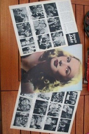 Vintage Clippings Veronica Lake Lot Of Pics !