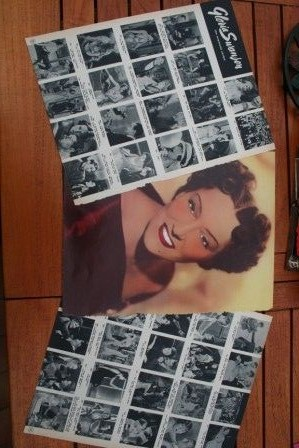 Vintage Clippings Gloria Swanson Lot Of Pics !