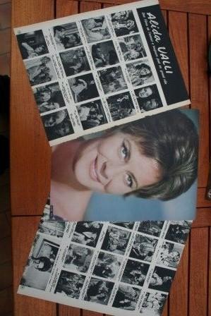 Vintage Clippings Alida Valli Lot Of Pics !