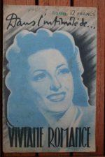 1946 Viviane Romance Vintage Magazine