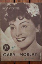 1944 Gaby Morlay Vintage Magazine