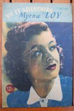 1946 Myrna Loy Vintage Magazine
