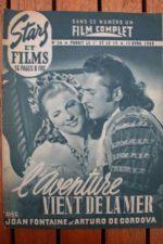1948 Joan Fontaine Arturo de Cordova Basil Rathbone