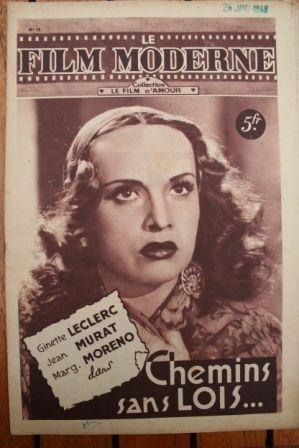 1948 Ginette Leclerc Jean Murat Marguerite Moreno