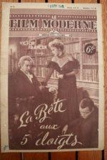 1948 Robert Alda Andrea King Peter Lorre Victor Francen