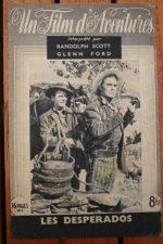 1947 Randolph Scott Claire Trevor Glenn Ford