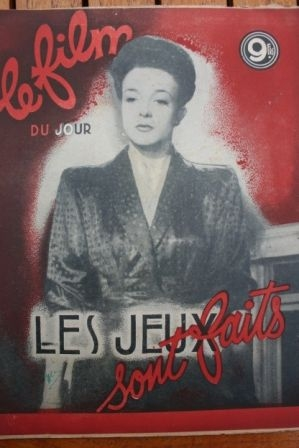 1947 Micheline Presle Marguerite Moreno Charles Dullin