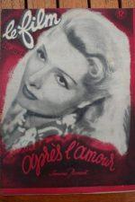 1948 Pierre Blanchar Simone Renant Giselle Pascal