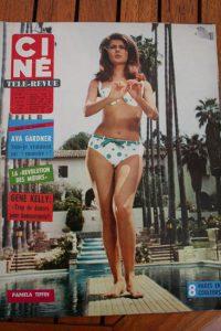 Magazine 1966 Sophia Loren Gregory Peck Ava Gardner Connie Stevens Gene Kelly